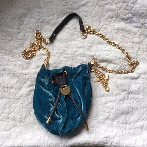 Juicy couture small turquoise bag